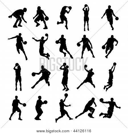 Basketball Black Silhouette Vector Illustration