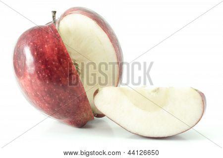 red sliced apple