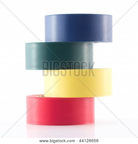 stacked multicolored tape