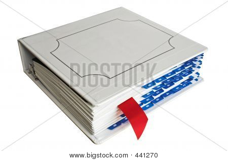 Binder With Bookmark