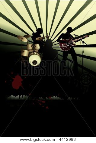 Poster, Rock Festival Band