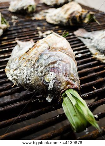Close Up Of Grilled Fish