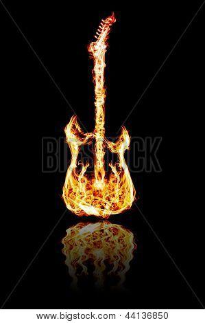 Fire Electric Guitar