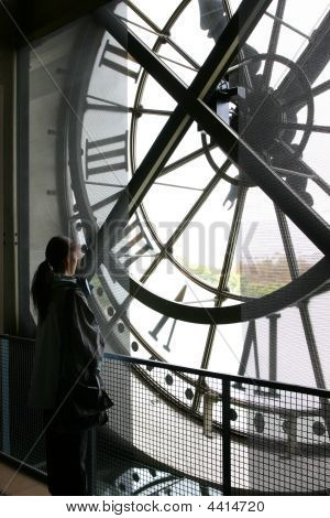 Clock At Musee Orsay Museum