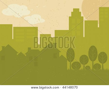 Green City Poster