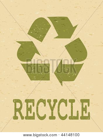 Recycle Symbol Poster