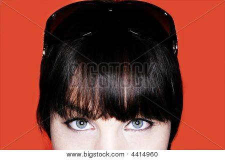 Brunette Eyes Closeup