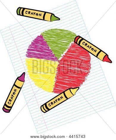 Circle Graph With Crayons.