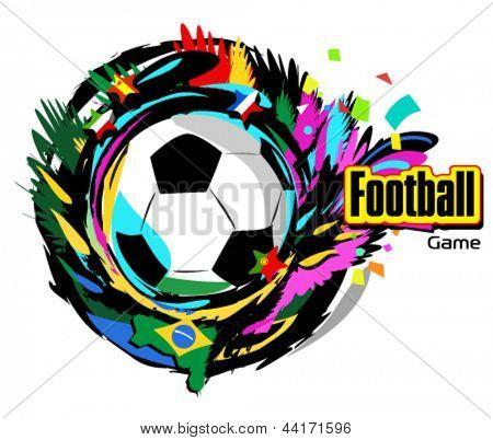 Football ball vector illustration