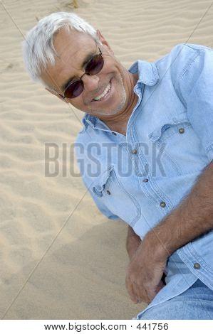 Casual Confident Senior Man