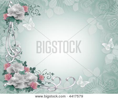 Floral Border Roses Invitation Template