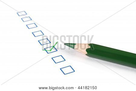 Check Boxes And Pen