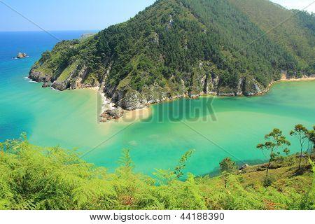 Estuary Tina Menor and Sable Beach, Val de San Vicente, Cantabria.