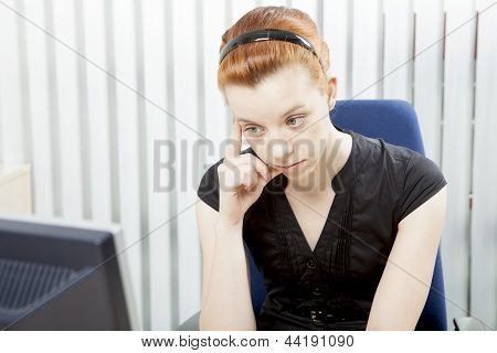 Worried Despondent Businesswoman