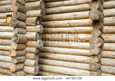 Wooden Logs Wall Conctruction