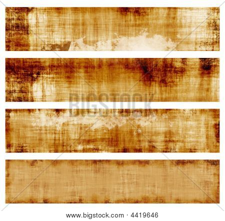 Burlap Banners Or Background Textures