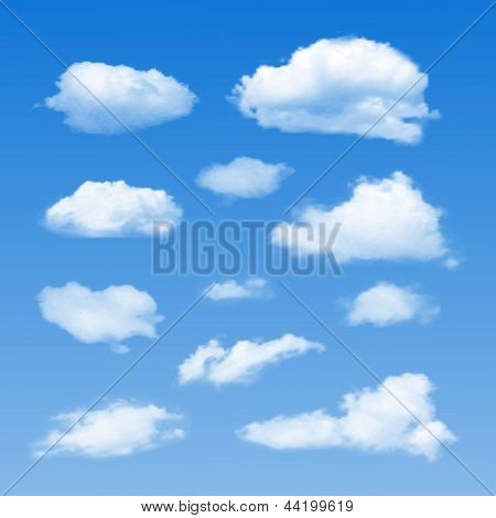 Vector Collection of Cloud Symbols