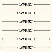 Dividers and frames for website and other design poster