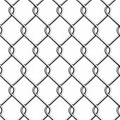 Seamless Chain Fence. Vector illustration. This is file of EPS10 format. poster