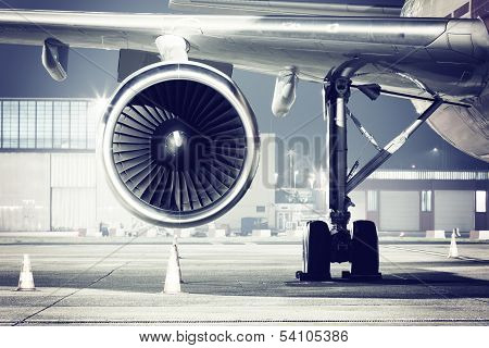 Airplane Turbine Detail
