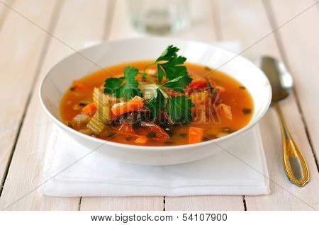 Trout, Tomato And Chili Soup