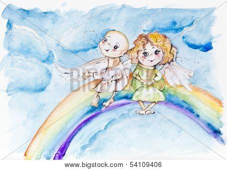 Funny Rainbow Angels