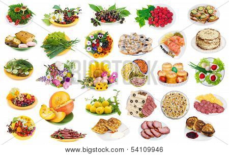 Food On Plates Set