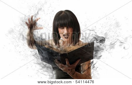 Woman With A Magic Book