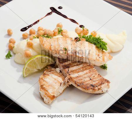 Grilled Butterfish  W Potato Puree