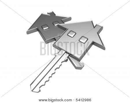 House Key And Real Estate Concept