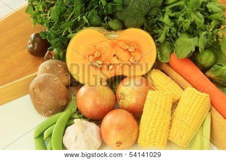 Pumpkin Fresh Vegetables Healthy Grown Organic in Style