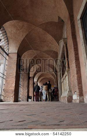 Tourist Visiting The Bocca Della Verità, Rome