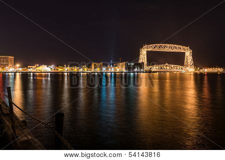 Duluth Skyline At Night