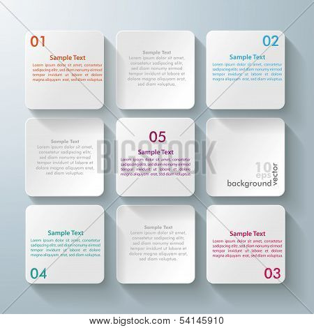9 White Squares Desig