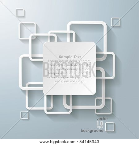 White Rectangle Squares Big Centre
