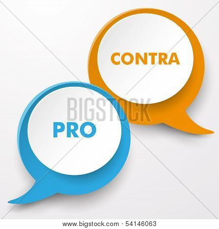 Pro Contra Speech Bubble Labels