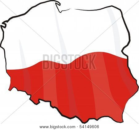 poland - map and flag