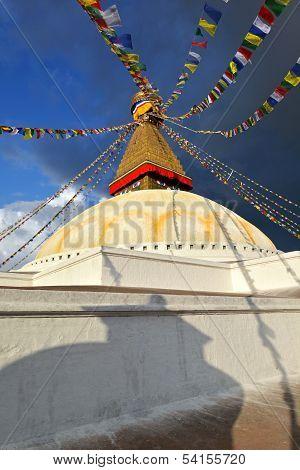 The biggest stupa in the World  Boudhanath,  Boudha , Nepal