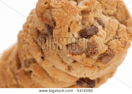Stack Of Peanut Butter Chocolate Cookies
