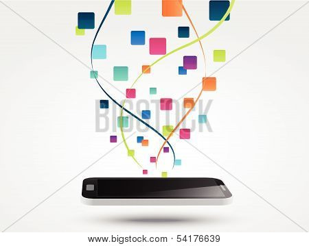 Smart phone apps icon concept background