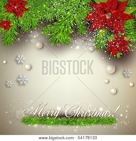 Elegante Hintergrund mit Christmas Garland. Vektor-illustration