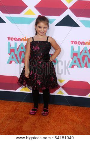 LOS ANGELES - NOV 17:  Bailey Michelle Brown at the TeenNick Halo Awards at Hollywood Palladium on November 17, 2013 in Los Angeles, CA