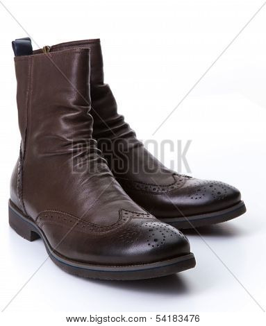 Brown roper boots