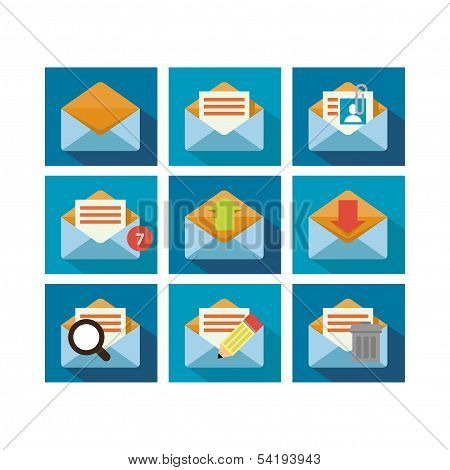 Flat Icon Design Mail