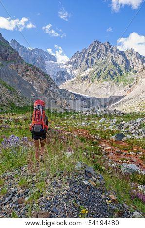 Woman Hiking In Georgia Mountains