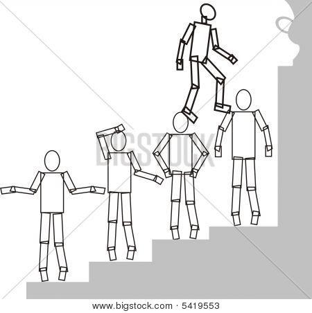 Men On Stair