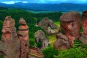amazing rock formations created for ages - Belogradchishki skali Bulgaria poster