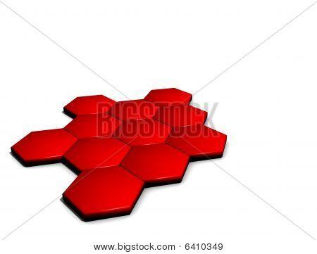Hexagonal Hi Tech Design
