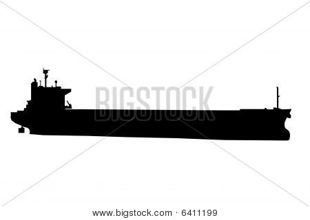 Oil Tanker Ship Silhouette