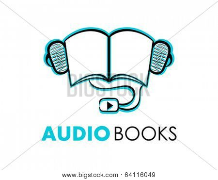 Hand-drawn audio-books symbol or icon isolated